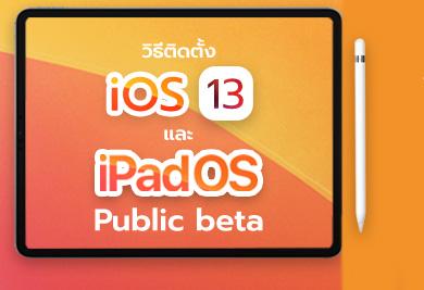 วิธีติดตั้ง iOS 13, iPadOS 13 Public Beta