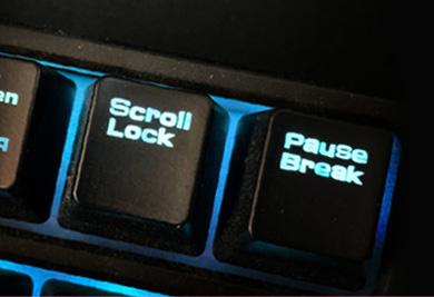 ปุ่ม Scroll Lock บนแป้นคีย์บอร์ดใช้ทำอะไร?
